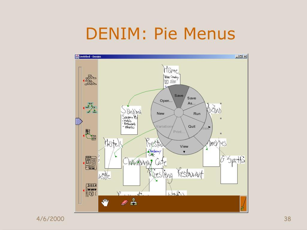 DENIM: Pie Menus