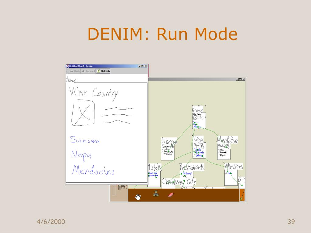 DENIM: Run Mode