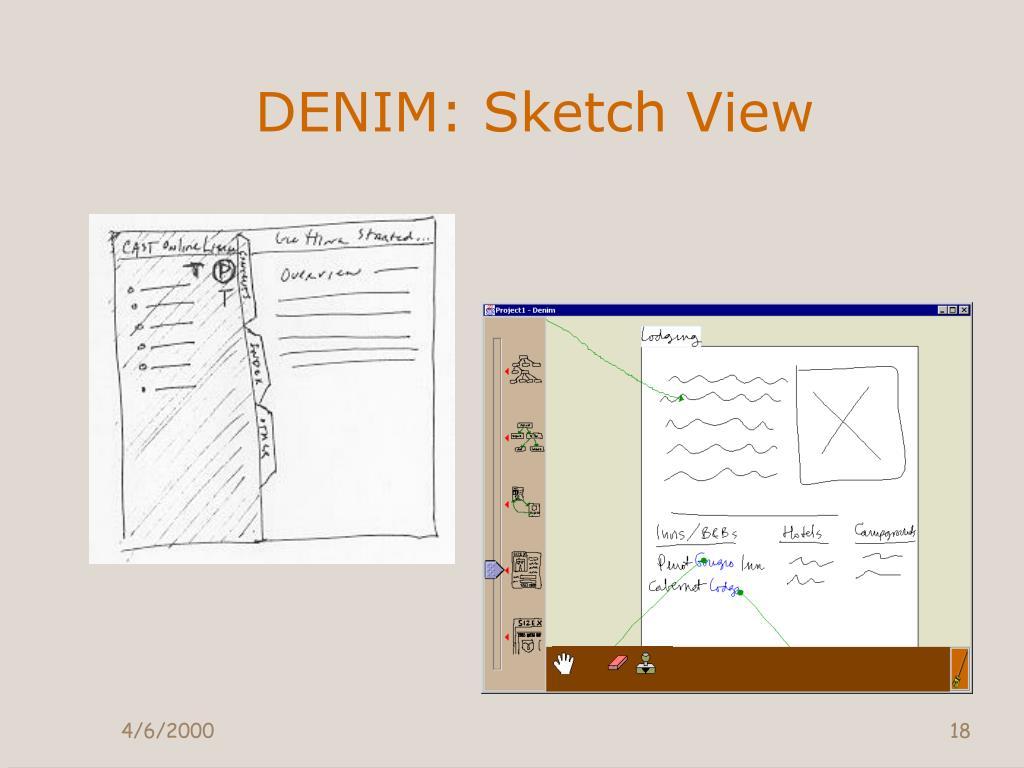 DENIM: Sketch View