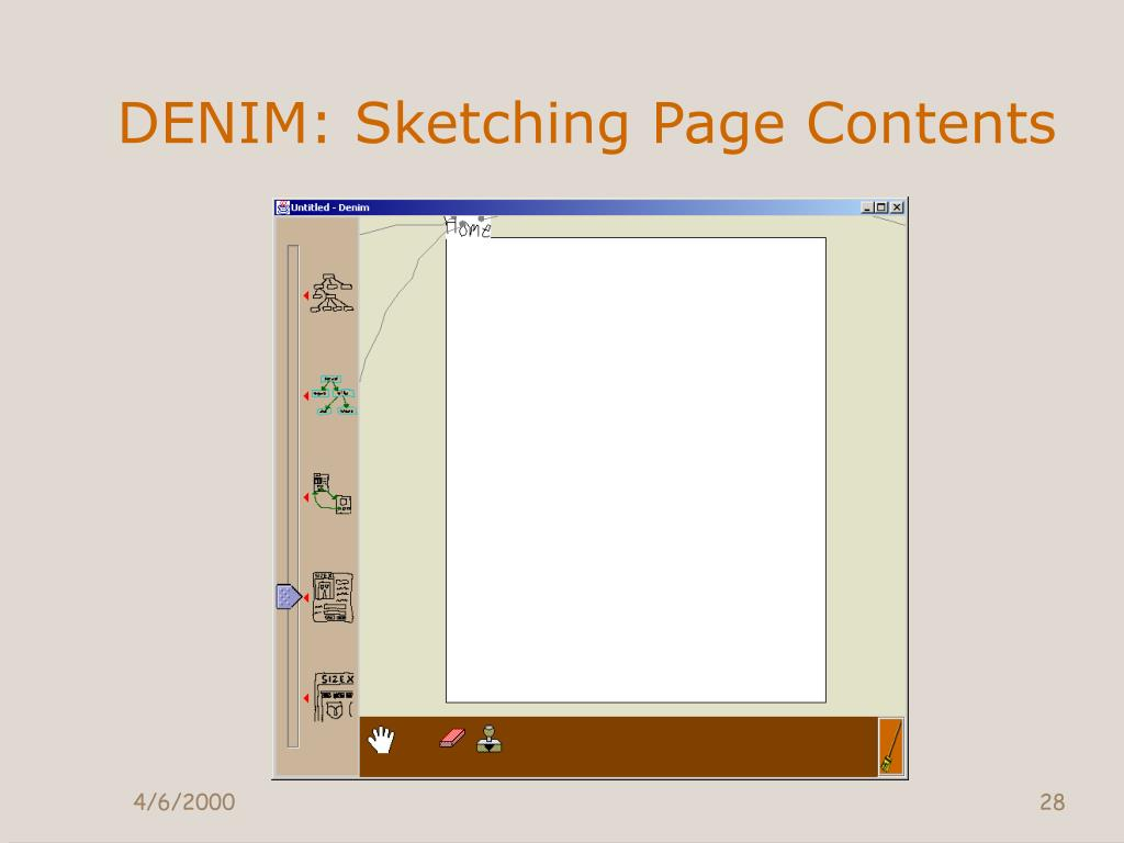 DENIM: Sketching Page Contents