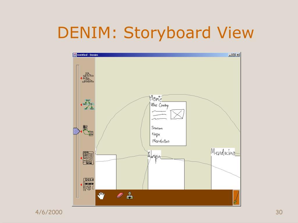 DENIM: Storyboard View