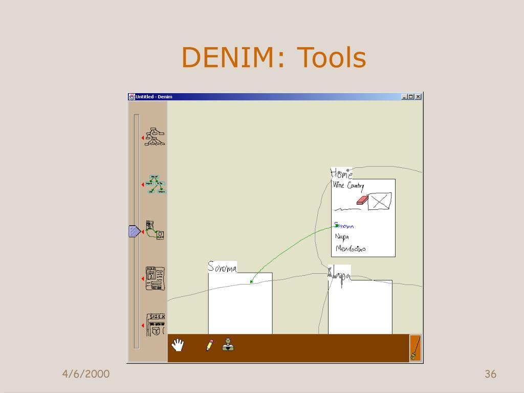 DENIM: Tools