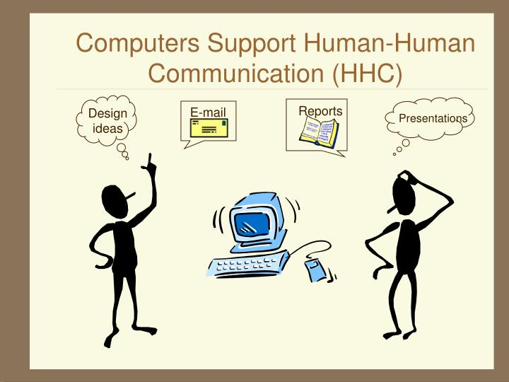 Computers support human human communication hhc
