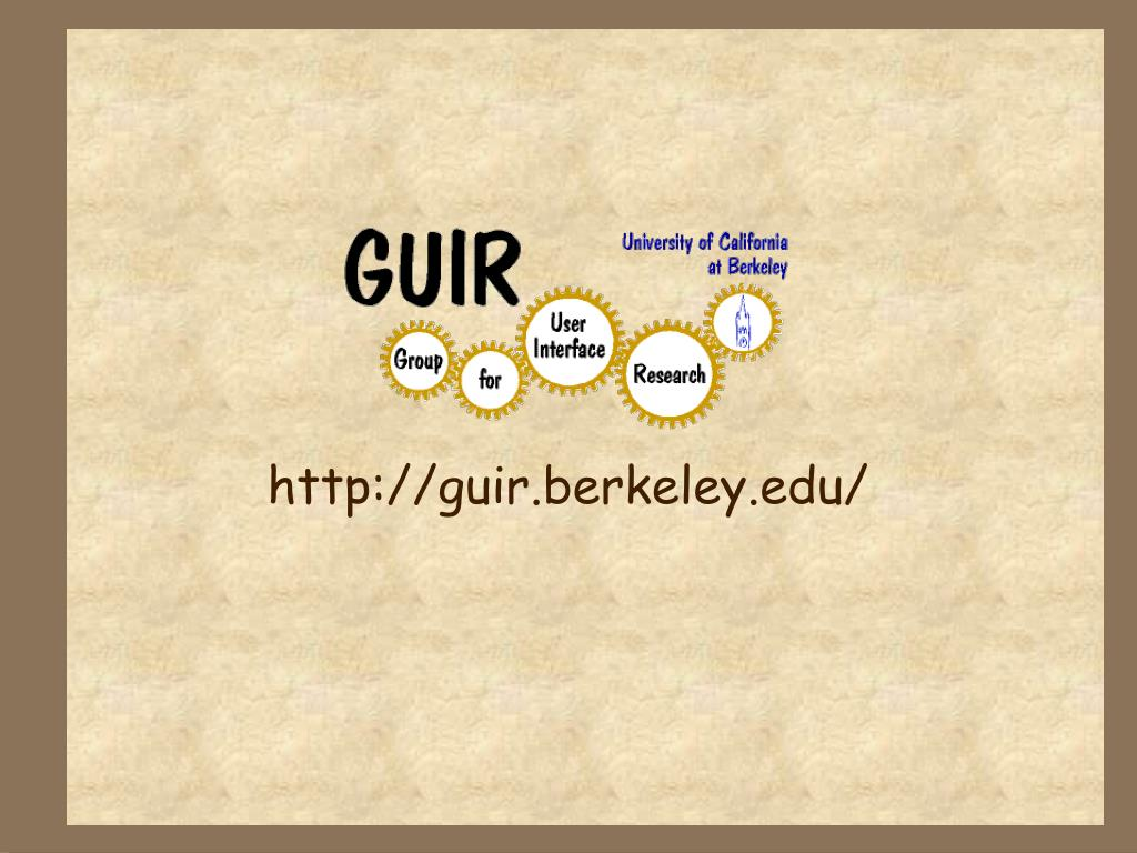 http://guir.berkeley.edu/