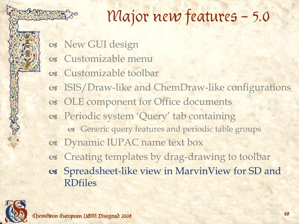 Major new features – 5.0