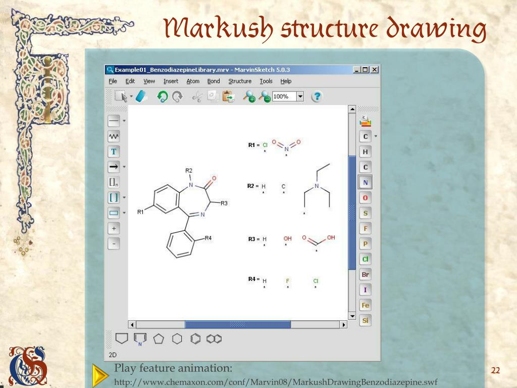 Markush structure drawing