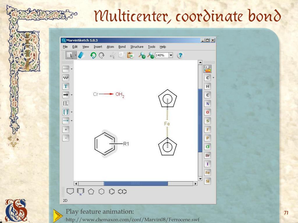 Multicenter, coordinate bond
