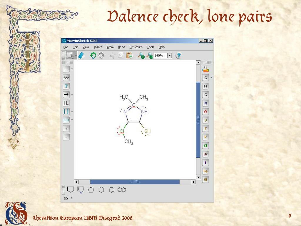 Valence check, lone pairs