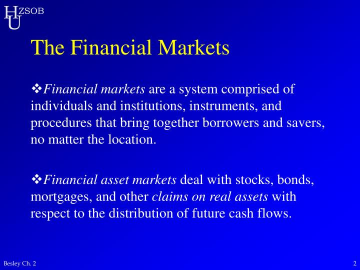 The financial markets l.jpg