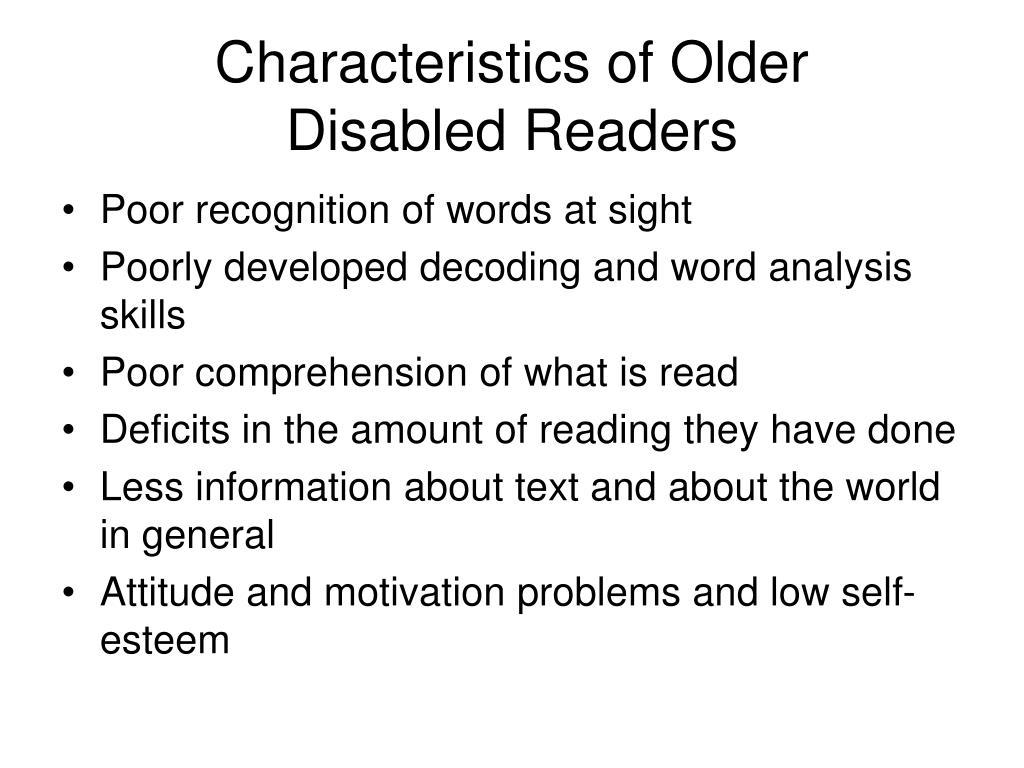 Characteristics of Older