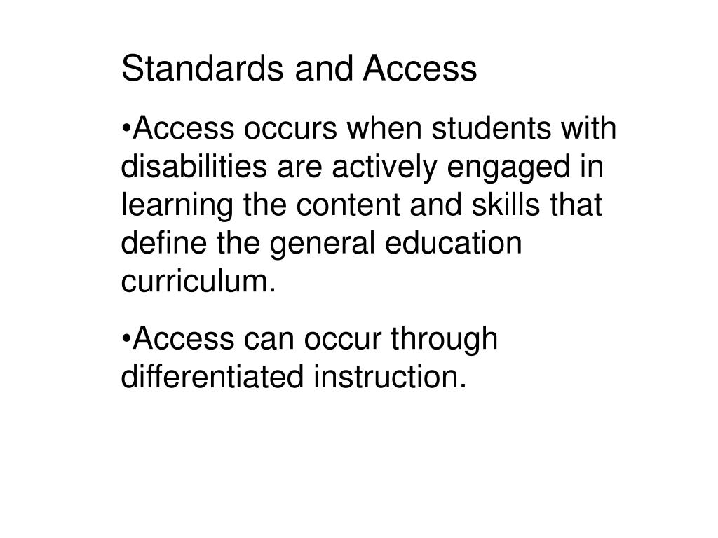 Standards and Access