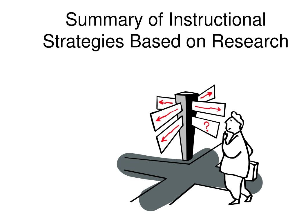 Summary of Instructional Strategies Based on Research