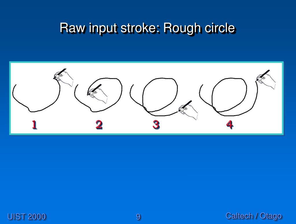 Raw input stroke: Rough circle