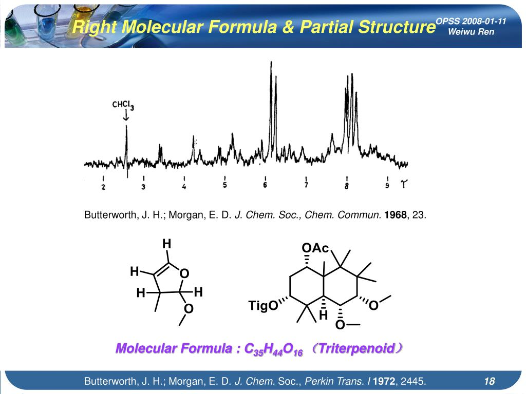 Right Molecular Formula & Partial Structure