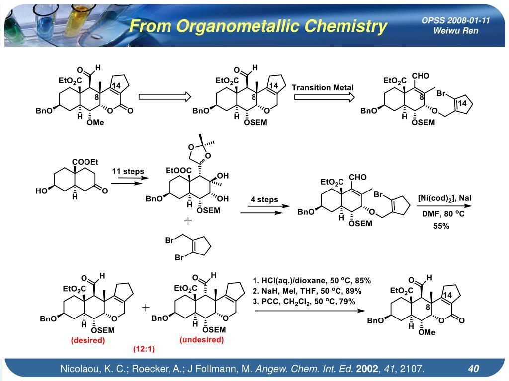 From Organometallic Chemistry