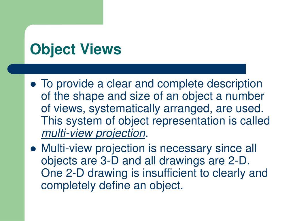 Object Views