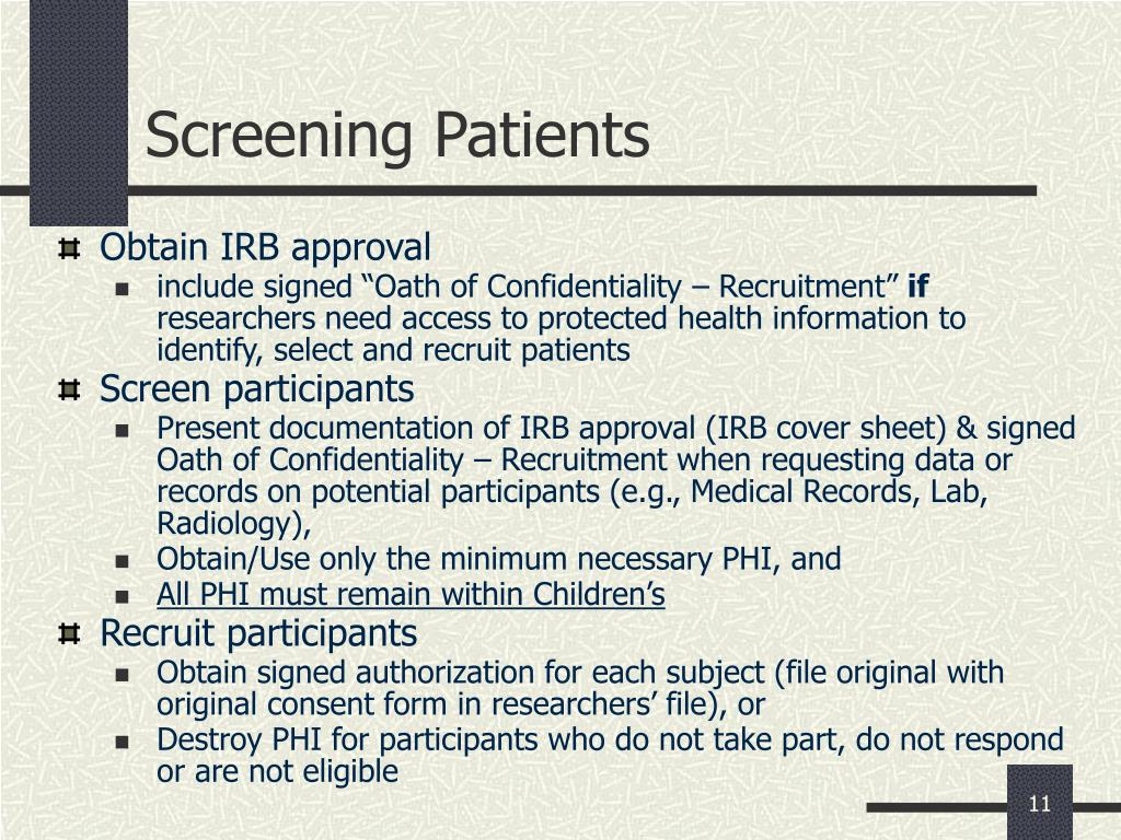 Screening Patients