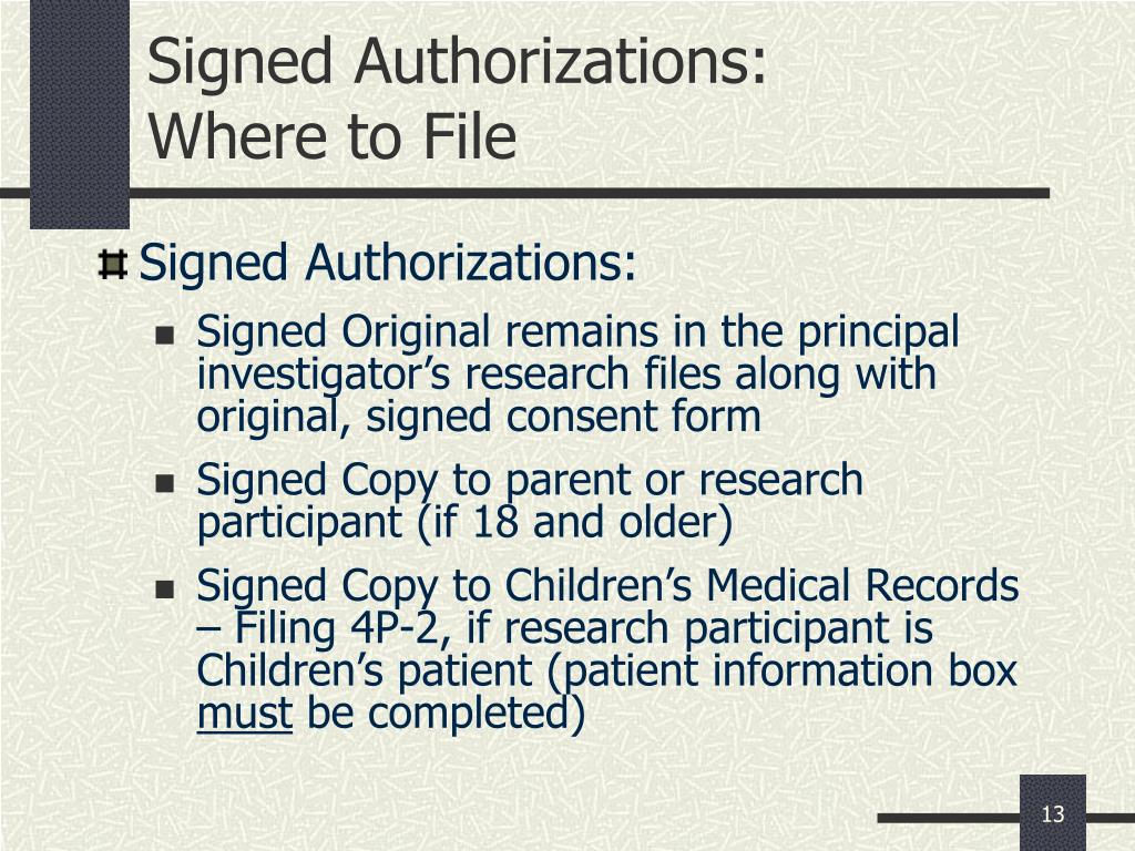 Signed Authorizations: