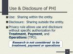 use disclosure of phi