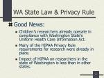 wa state law privacy rule
