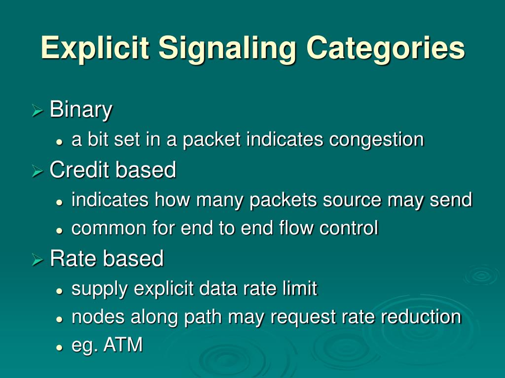 Explicit Signaling Categories