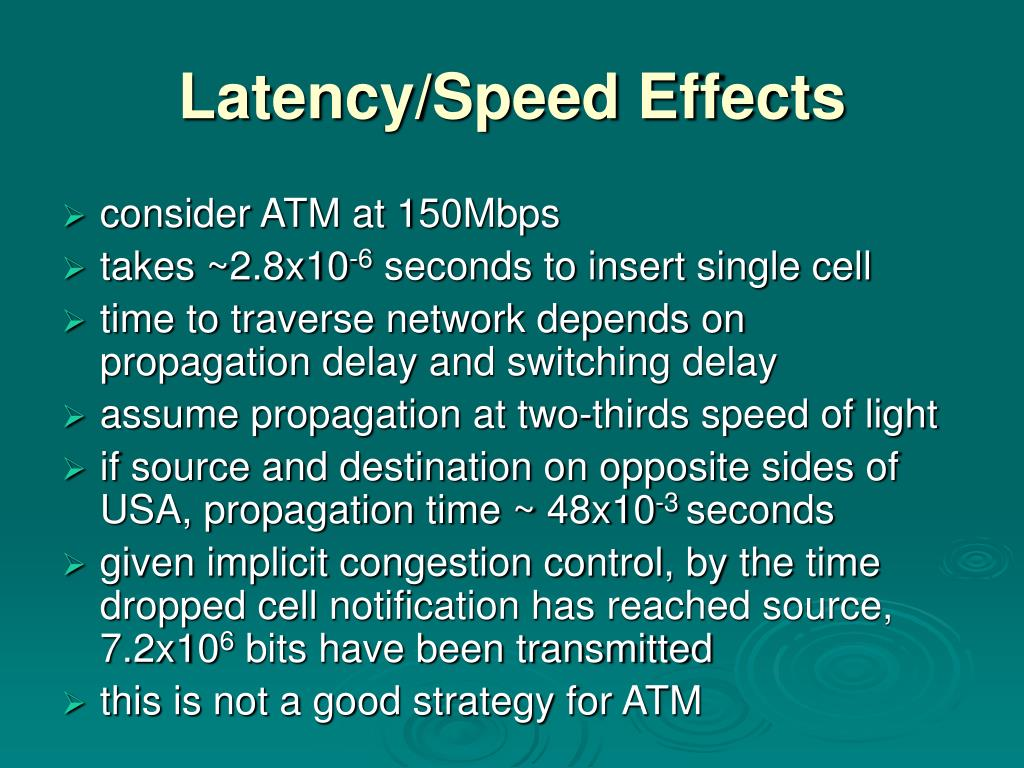 Latency/Speed Effects