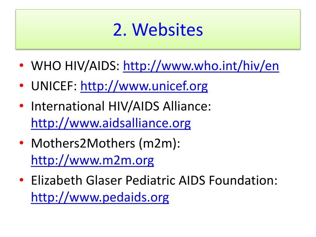 2. Websites