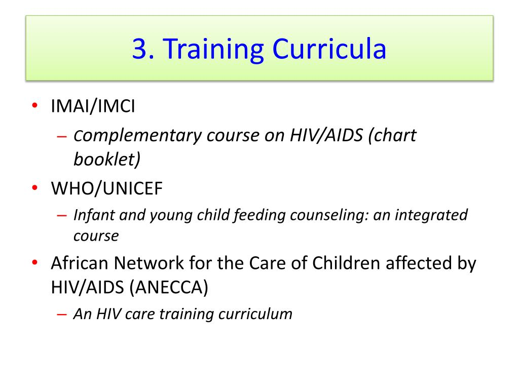 3. Training Curricula