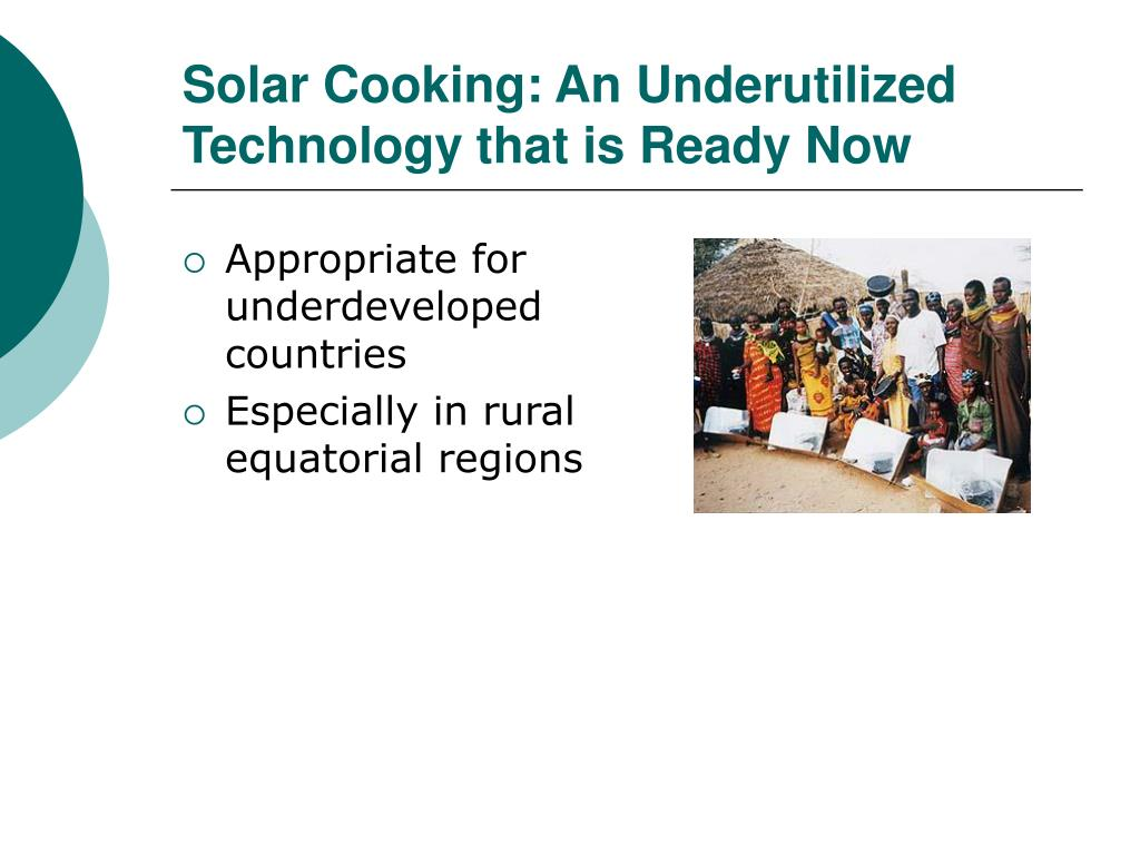 Solar Cooking: An Underutilized Technology that is Ready Now