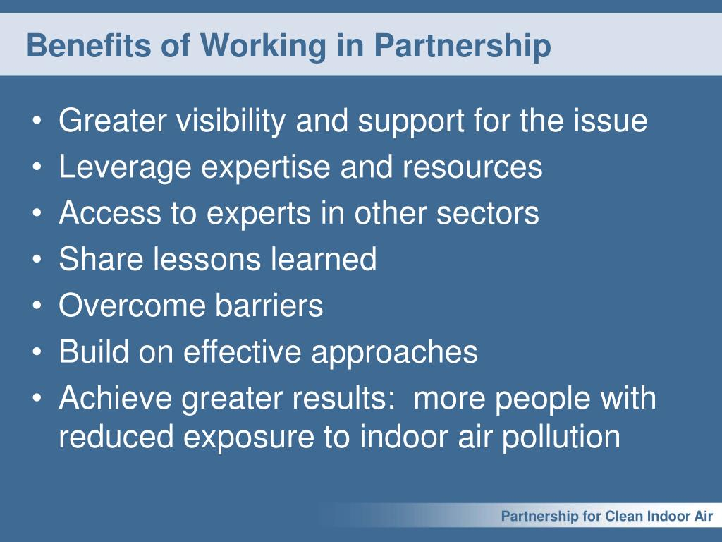 Benefits of Working in Partnership