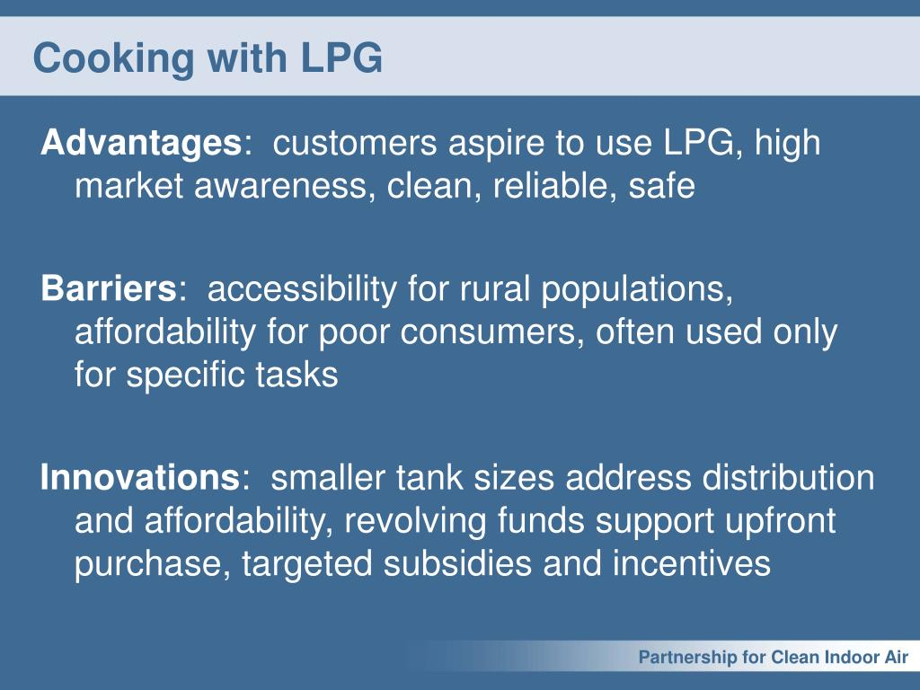 Cooking with LPG