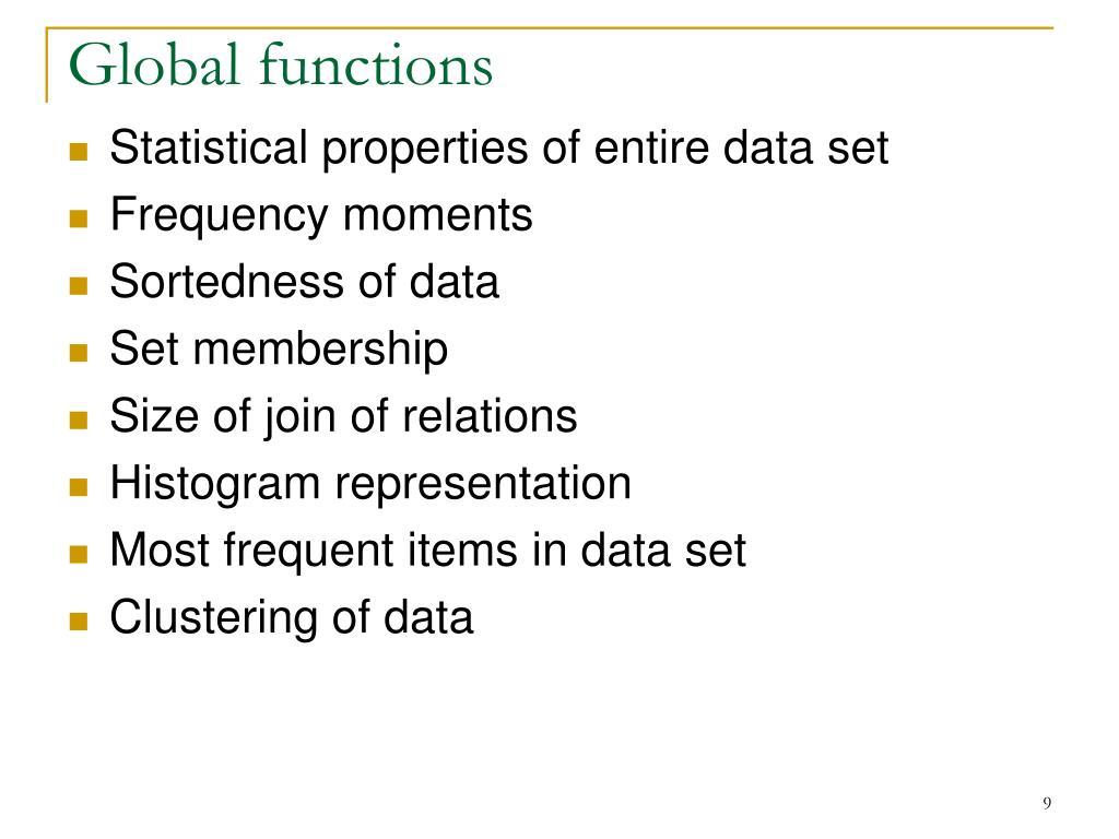Global functions