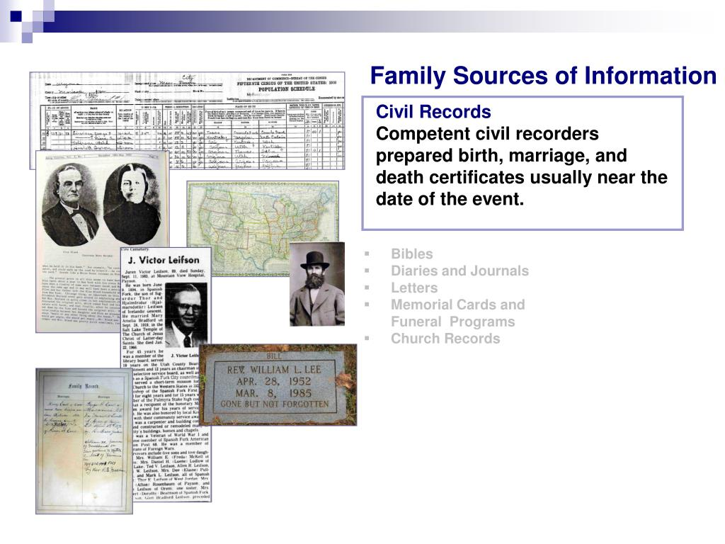 Family Sources of Information