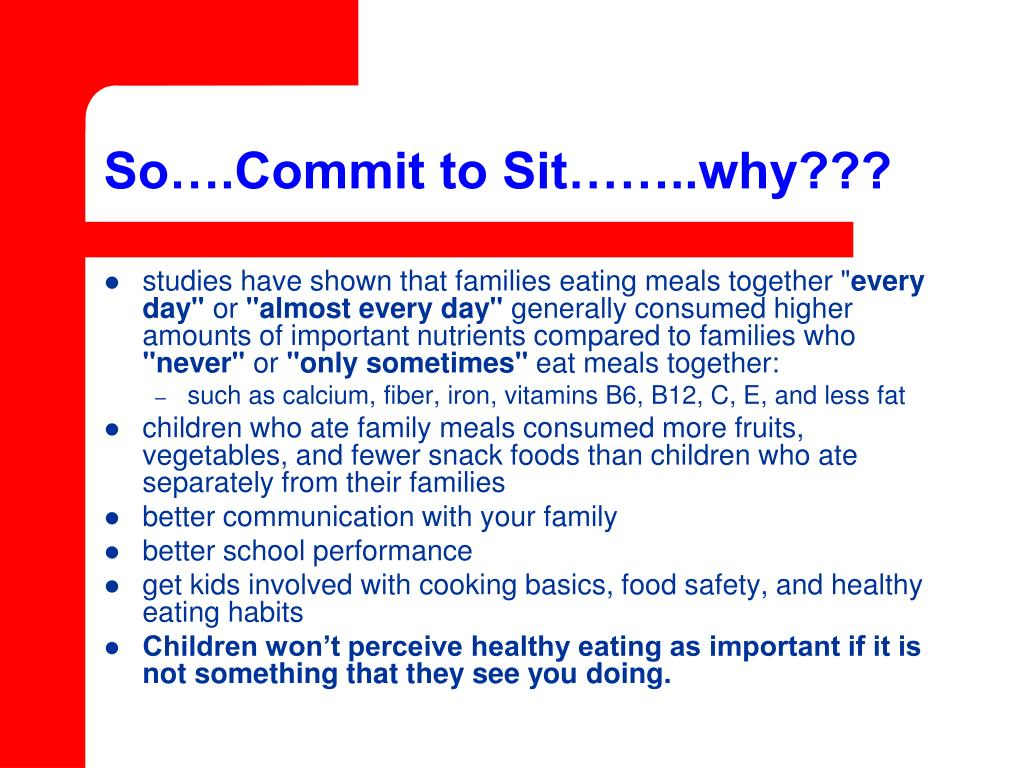 So….Commit to Sit……..why???