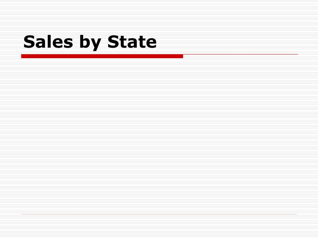 Sales by State