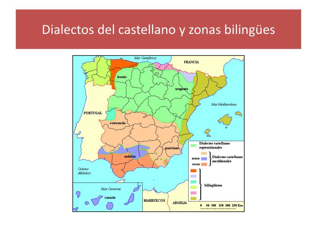 Dialectos del castellano y zonas bilingües