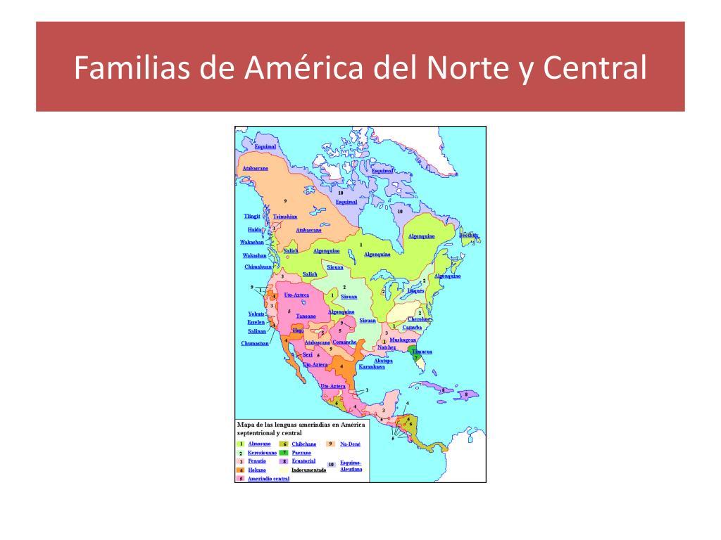 Familias de América del Norte y Central