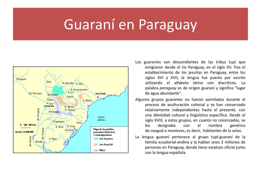 Guaraní en Paraguay