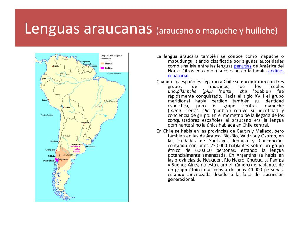 Lenguas araucanas