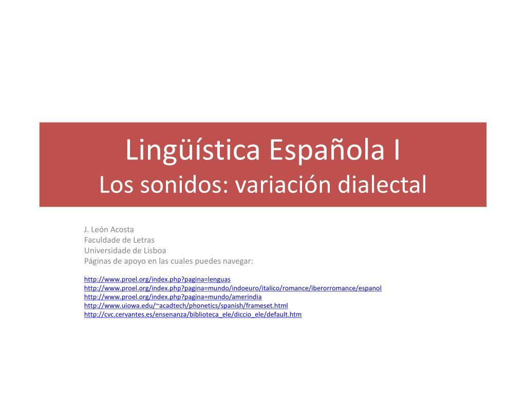 Lingüística Española I