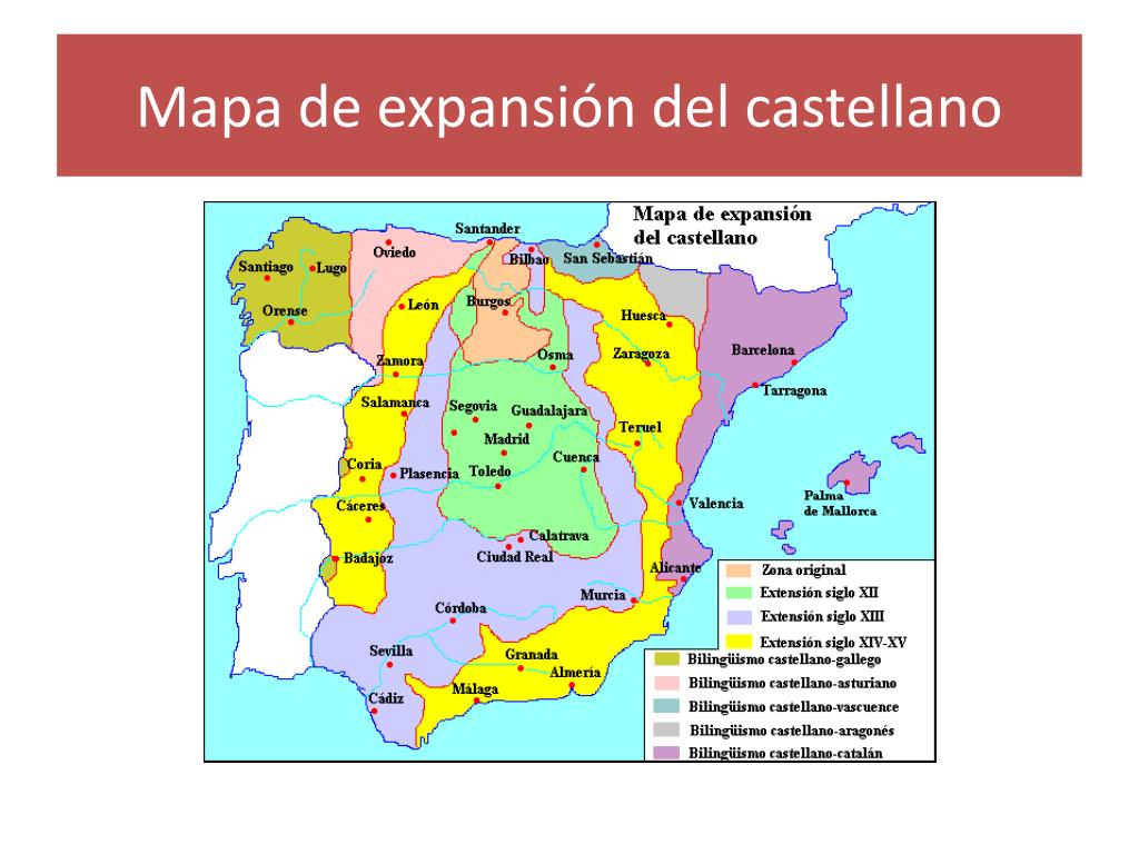 Mapa de expansión del castellano