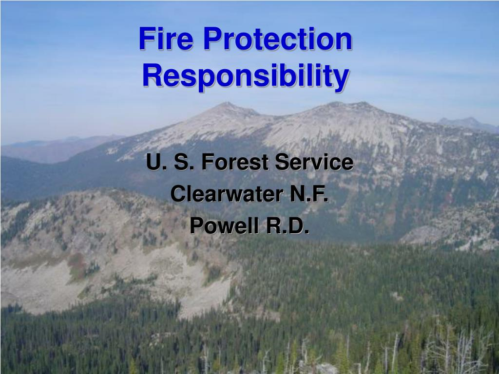 Fire Protection Responsibility