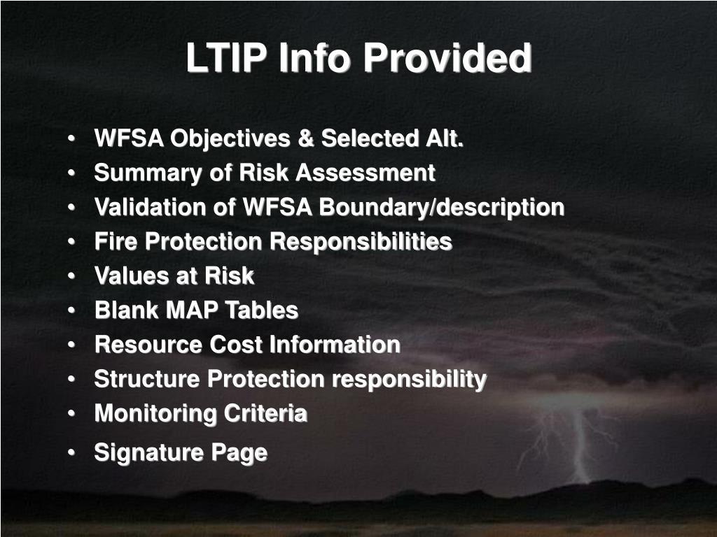 LTIP Info Provided