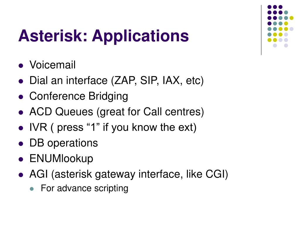 Asterisk: Applications