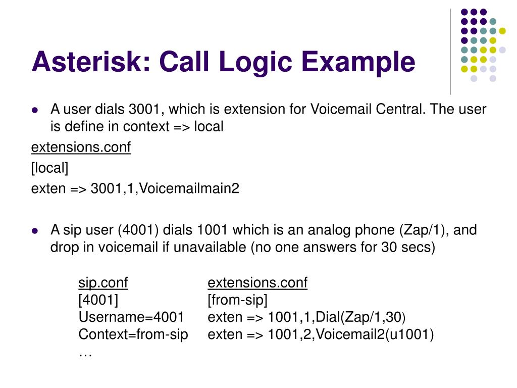 Asterisk: Call Logic Example