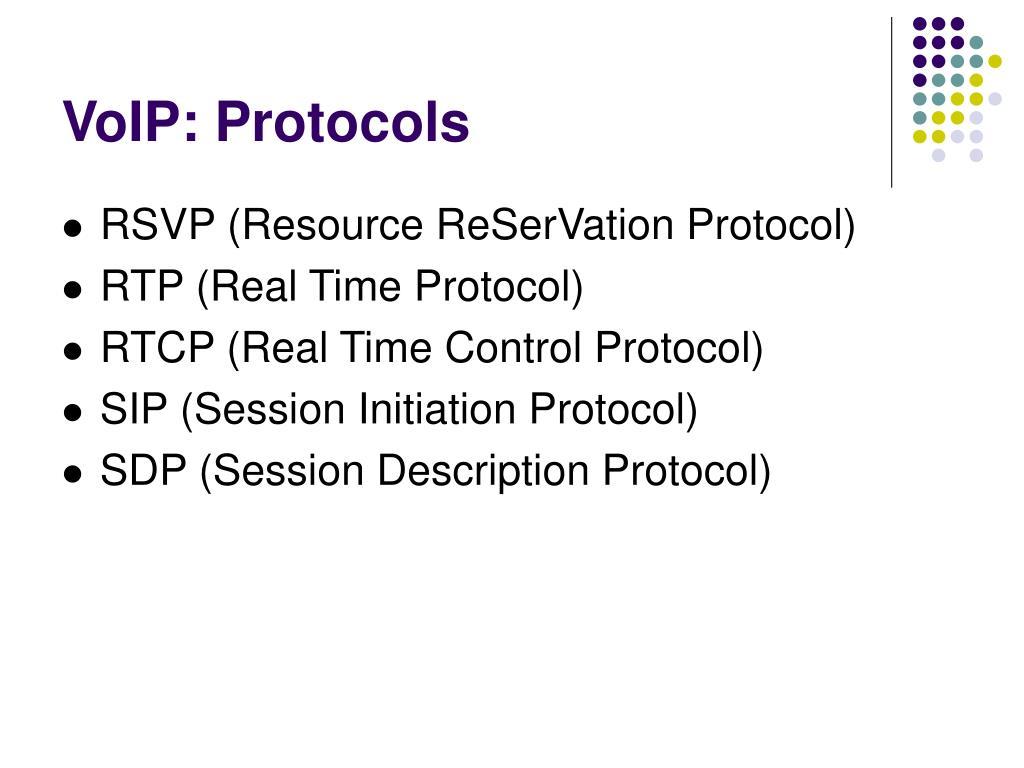 VoIP: Protocols