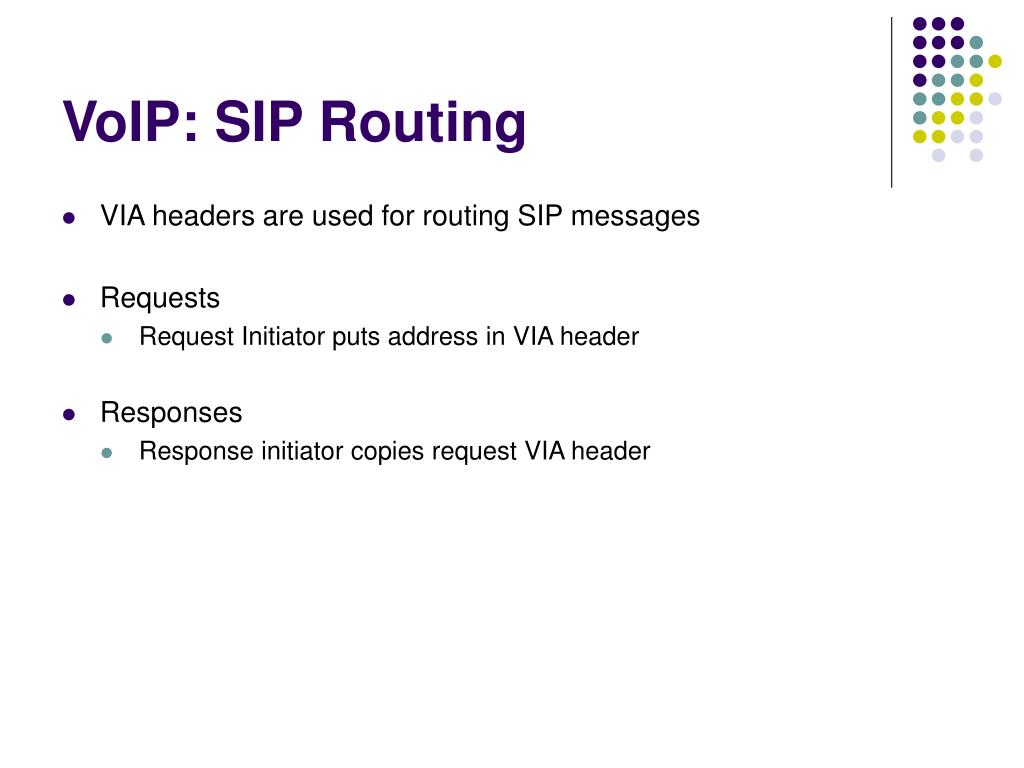 VoIP: SIP Routing