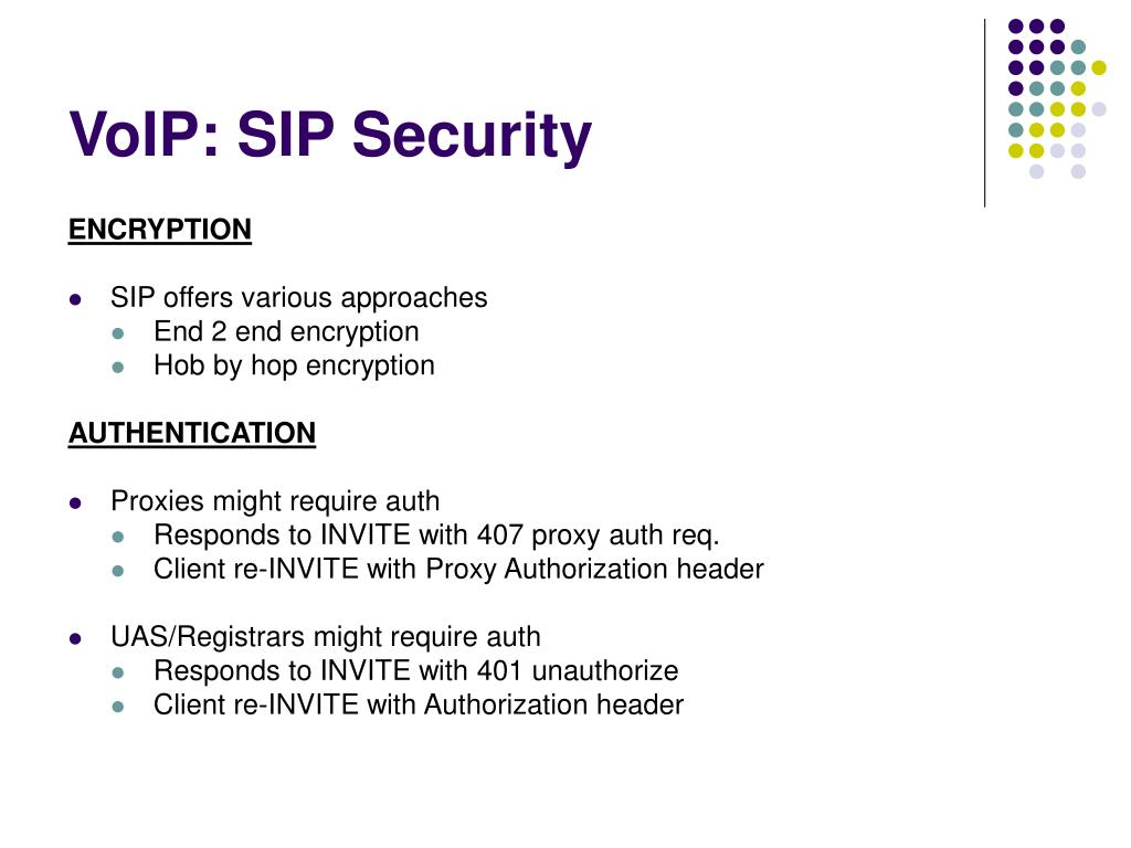 VoIP: SIP Security