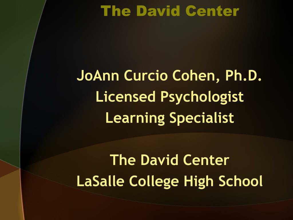 The David Center