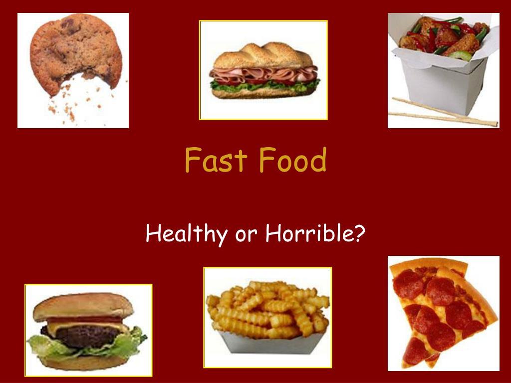 Fast Food Vs Healthy Food Survey